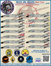 1/48 Furball Bravo MIG KILLERS Part II  F-4 Decals for the Academy Kit