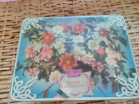 Vintage Rare Sharp and Sons Design Floral tin box/trunk Made in England