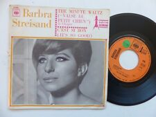 BARBRA STREISAND The minute waltz C est si bon CBS 2195 Pressage France    RRR