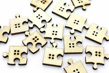 Puzzle Buttons Four Holes Special Shape Funny Decorative DIY Beads 27mm 20pcs