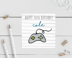PERSONALISED Gaming game ps4 switch Birthday Card Boys Son Nephew Brother friend