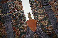 Tafalgar Blue Diamond Geometric Woven  Supspenders Braces Made in USA