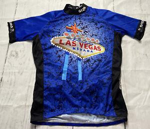 GIZMO Cycling Jersey Biking Shirt Las Vegas Nevada Short Sleeve Size Medium