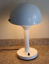 Designer Tischlampe Pop Art Lampe Italien weiß Kippschirm Klappschirm 70er Jahre