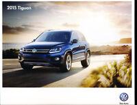 2015 VW Volkswagen Tiguan 16-page Original Car Sales Brochure Catalog