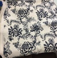shine by delano house linen fabric by the yard navy off white floral print