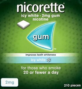 Nicorette 2mg Icy White Gum - 210 Pieces 02/23 EXPIRY *NEXT DAY DISPATCH*