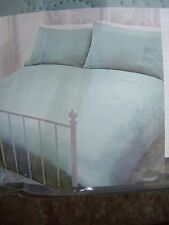 HOMESTORE BEDROOM TEAL FLORAL PINSONIC QUILTED  DOUBLE DUVETCOVER & 2 x CASES