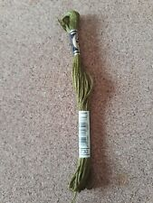 DMC 730 muddy green stranded floss embroidery thread brand new