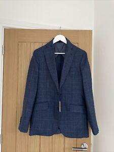 Men's Hackett Silk Wool Blazer Jacket Cloth Loro Piana New UK 38/L EU 48/L