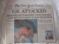 Vacuum Sealed 2001 New York Times 9 11 01 Newspaper NY 12 September Late Edition