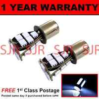 382 1156 BA15s WHITE 21 SMD LED FRONT INDICATOR LIGHT BULBS X2 FI201702