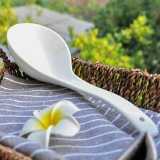 White Porcelain Cooking Spoon Big Dining Soup Ladle Pot Tableware Kitchen Tools