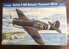 * Trumpeter 1/32 Curtiss P-40B Warhawk, Tomahawk Mk. IIA model kit