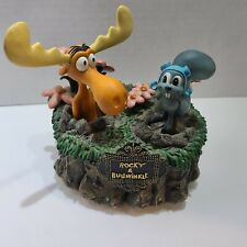 Rocky And Bullwinkle Westland Giftware Vintage Ceramic Music Box *Rare* Working