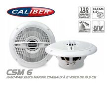 "Haut parleurs Marine Étanche 16,5"" 2 Voies Coaxiaux 120 Watts Caliber CSM6"