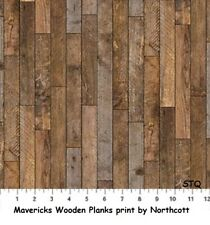 Maverick Horses Wooden Planks Boards Quilt fabric Cotton Northcott Bty