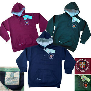 Boys Girls Cambridge University Hoodie Sweatshirt Top Age 3 - 13 Years