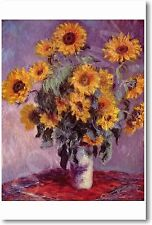 Bouquet of Sunflowers 1881 - Claude Monet - French Painting Art Print POSTER
