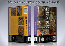 QUAKE 2. PAL ENGLISH. Box/Case. Nintendo 64. BOX + COVER. (NO GAME).