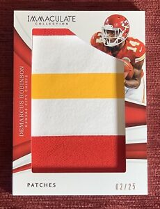2018 Immaculate Collection DEMARCUS ROBINSON #/25 Jumbo 3 Color Patch Chiefs🔥