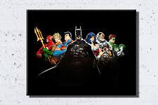Justice League framed canvas Wall Art Superman, Batman, Wonder Woman, The Flash
