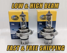 HELLA Headlight Bulbs HIGH & LOW Beam LONG LIFE Set of 2 9003 H4 Qty of 2