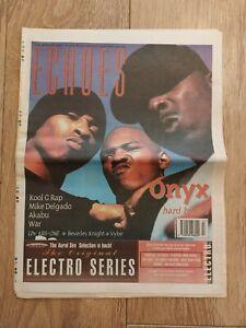 ECHOES MAGAZINE 28 OCTOBER 1995 KOOL G RAP MIKE DELGADO AKABU WAR ONYX