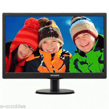 "MONITOR PHILIPS LCD LED 18.5"" WIDE 193V5LSB2/10 5MS 0.30 1366X768 700:1 BLACK VG"