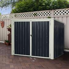 Mülltonnenbox Schuppen Garten Gartenschrank Metall Gartenbox Gerätebox