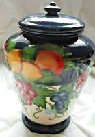 Vintage Ceramic Hand Painted for Nonnis Biscotti Cookie Jar- Sealed Lid-11 1/2""