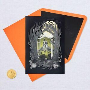 HALLMARK Halloween Card by Signature ~ 3D Haunted Mansion & Graveyard