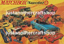 Matchbox Toys 1970's Superfast Large Size Poster Advert Sign Leaflet