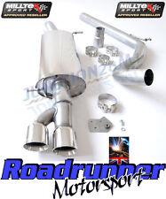 SSXVW155 Milltek Audi A1 Exhaust Cat Back Non Res 1.4TFSI S Line S Tronic 185PS