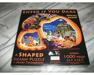 Rare SunsOut Special Shape Jigsaw Puzzle ENTER IF YOU DARE Halloween NEW SEALED