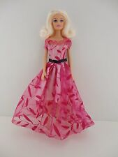 Leaf Inspired Dress in Pink with See Thru Elements Made to Fit Barbie Doll