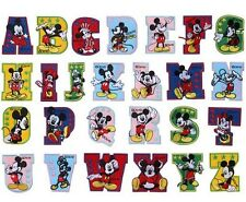 26x Mickey Mouse Alphabet Embroidery Iron On Patch Set Applique Craft