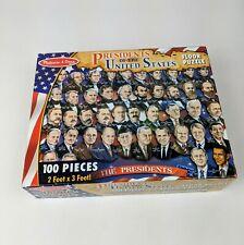 "Melissa & Doug Presidents of the United States Floor Puzzle 2"" x 3"" 100 piece"