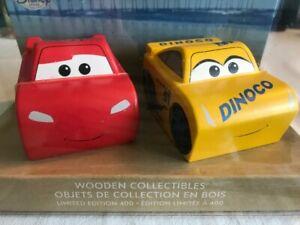Disney Store Pixar - Lightning McQueen Cruz Ramirez Wooden Collectibles LE 400