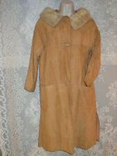 Vintage Fur Upcycle Project Coat Blonde Mink Collar Suede Coat