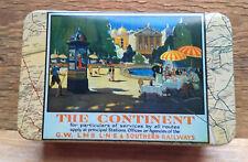 Retro Storage Tin With 1930's Railways Design/The Continent Design/Souvenir