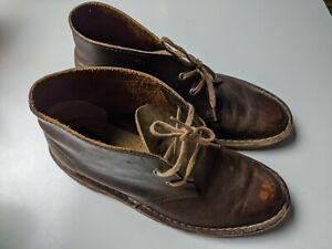 Clarks Originals Brown Leather Desert/Chuka Boots Crepe Sole Size US 8 / EU 39