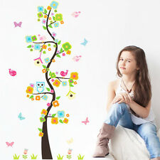 US STOCK Removable Owls Tree Branches Flower Wall Sticker Decal Vinyl Room Decor