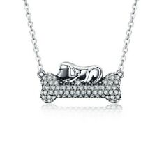 """Fido Dog Bone Pendant and 20"""" Chain Necklace Ginger Lyne Collection"""