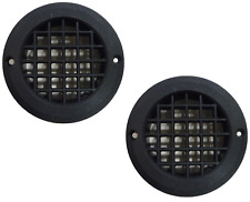 BLACK X2 Drop Out Vent Motorhome Caravan Gas LPG 75mm Floor Vent SHORT TAIL