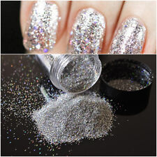 10g DIY Nail Holographic Laser Nail Art Glitter Powder Rainbow Chrome Pigments