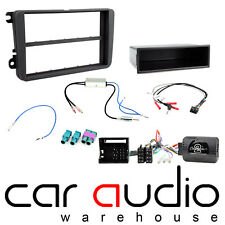 Car Stereo S/Din Fascia & Steering Wheel Interface Kit fit VW Golf Mk5 04-08