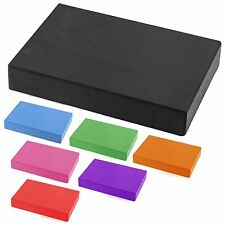 Yoga Brick Pilates Block Foam Foaming Pair Stretch Health Gym Fitness Exercise