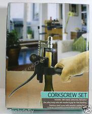 3Pc Corkscrew Set Cork Screw Foil Cutter Replacement Screw And Stand Nib