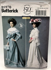 Butterick B5970 Sewing Pattern Misses Top Skirt Belt 19th Century Costume Uncut